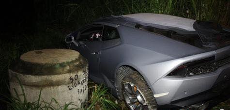 Lamborghini Huracán tenía chapa paraguaya.