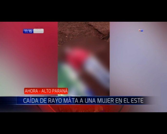 La víctima estaba trabajando en el campo cuando recibió la descarga.
