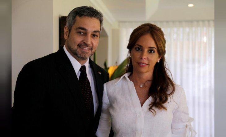 Mario Abdo y Silvana López Moreira.