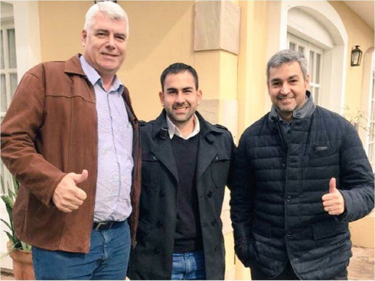 Felipe Salón junto a Marito Abdo y Arnaldo Wins.