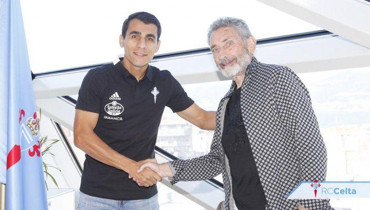 Júnior Alonso es refuerzo del Celta de Vigo para esta temporada. El paraguayo debutaría hoy ante el Espanyol de Hernán Pérez.