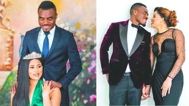 Este romance entre el pelotero nigeriano y las dos reinas de belleza es el hazme reír de las redes sociales.
