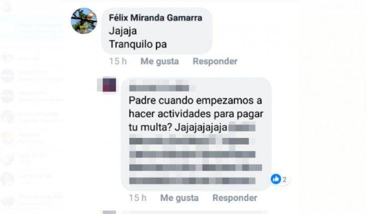 Cura responde a los mensajes en Facebook y se burla de la condena.