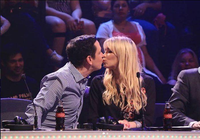 Carmi Masi le dio un beso a Genovese