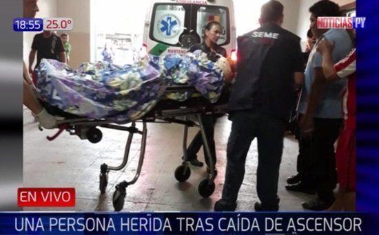 El herido fue llevado primero al Hospital Regional de Luque y luego al Hospital de Trauma.