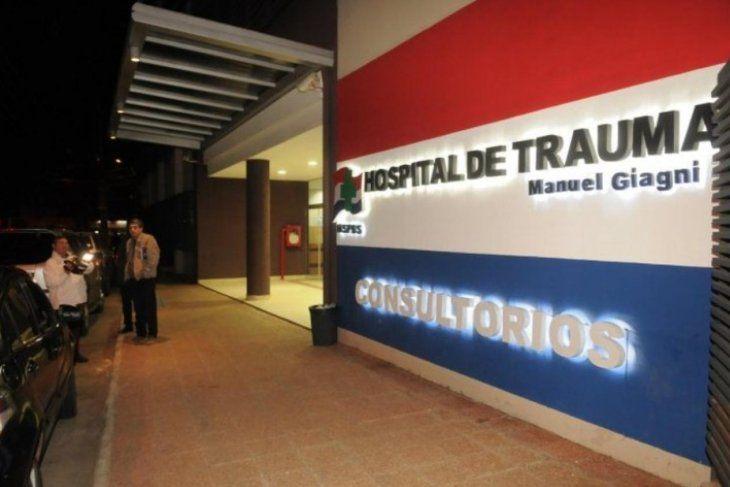 El niño permanece internado en el Hospital de Trauma de Asunción.