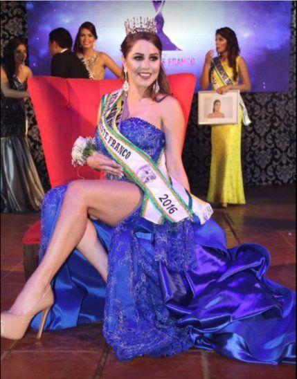 En el 2016 fue coronada Miss Presidente Franco.