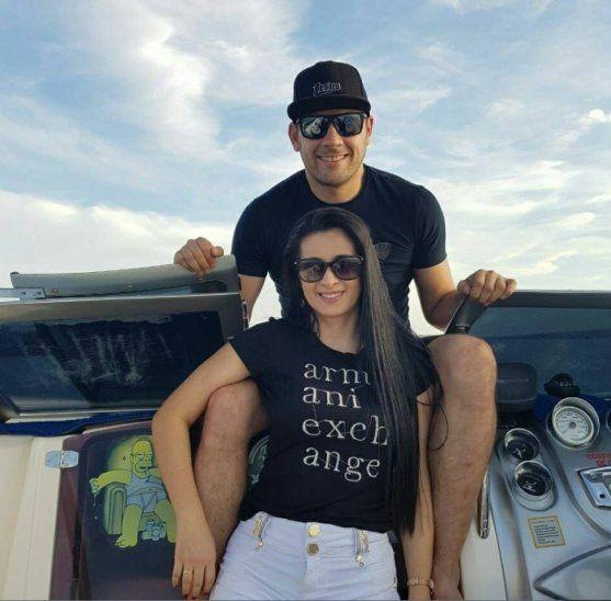 Reinaldo Cucho Cabaña y su esposa