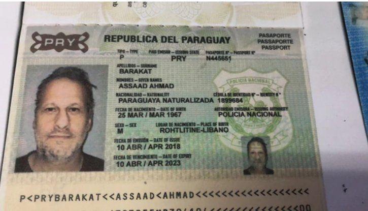 El libanés consiguió un pasaporte en Paraguay.