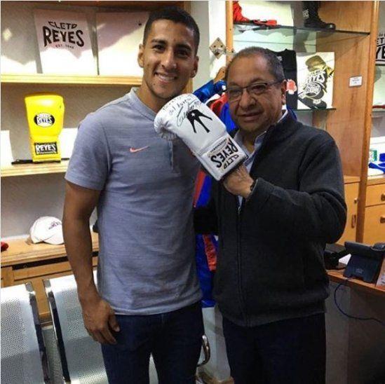 Cecilio Domínguez junto a Alberto Reyes