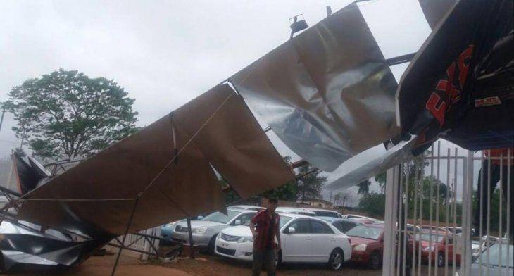 Hubo destrozos en otros sectores del Alto Paraná (Radio Concierto 89.1 FM - Facebook)