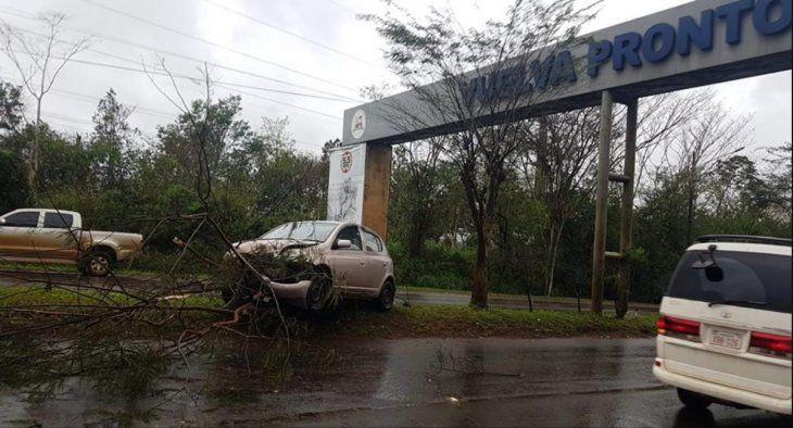 El temporal causó problemas en el tránsito (Radio Concierto 89.1 FM - Facebook)