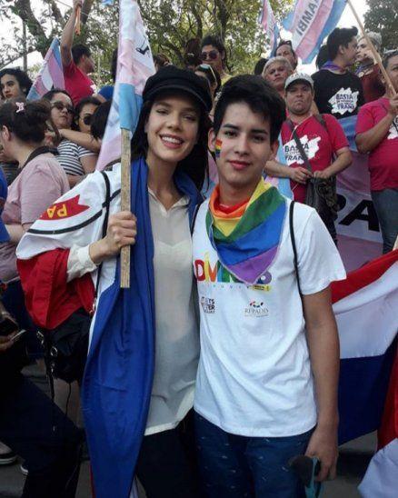 Ana Livieres estuvo en la marcha TLGBI