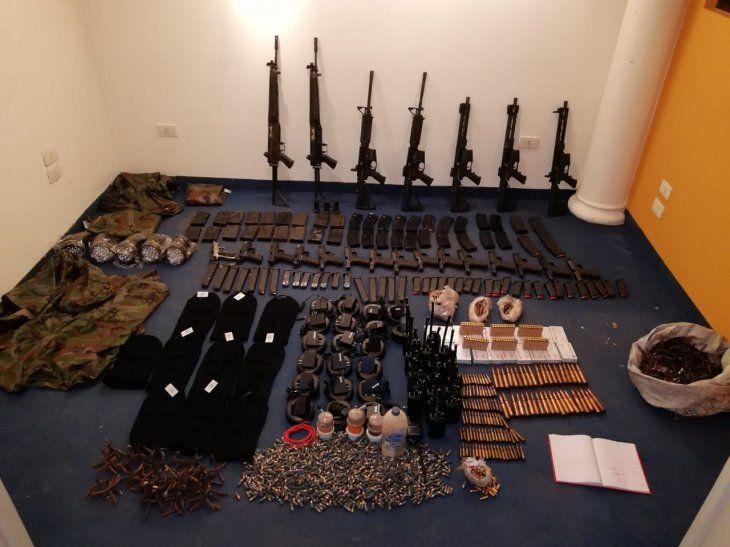 En la viviendaencontraron ayer 7 fusiles
