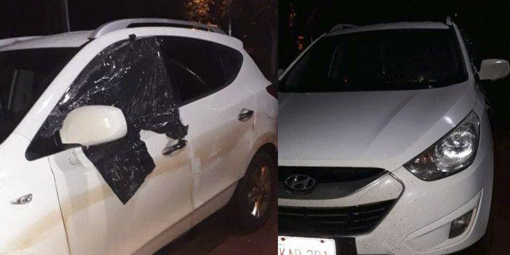 El terrible hecho de violencia doméstica ocurrió en Pirapó en la tarde del domingo. La pareja viajaba en una camioneta con sus dos hijos.