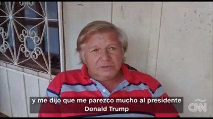 Don Melgarejo contó a CNN cómo fue que empezó a explotar su parecido con Trump.
