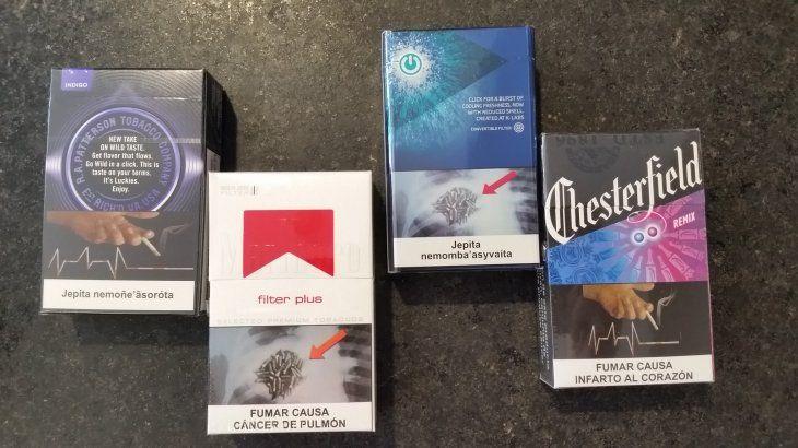 Así deben verse todas las cajetillas de cigarrillo en su parte frontal.