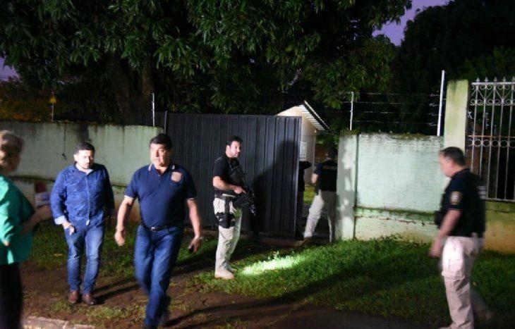El allanamiento se realizó alrededor de las 05:30 de este miércoles en Presidente Franco.