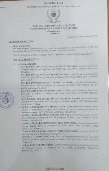 URGENTE: Marito cambia a la cúpula militar