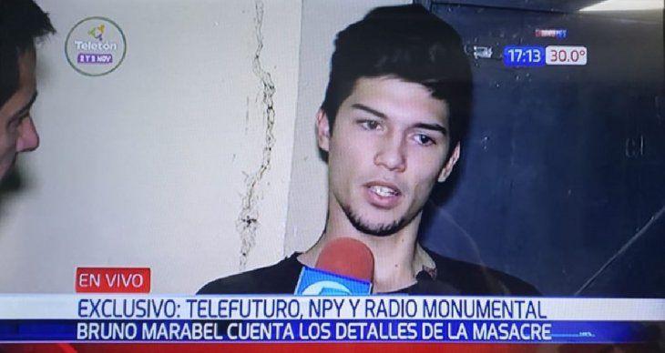 Bruno Marable dijo que lo culparon solo porque él estaba en la casa