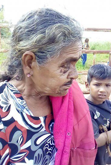 Una abuela indígena resultó con lesiones en medio de la huida al monte.