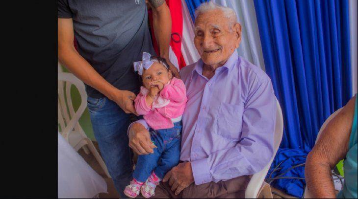 Veterano del Chaco celebró 103 años