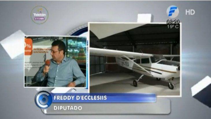 El diputado Freddy DEclesiis negó toda relación con la droga incautada.