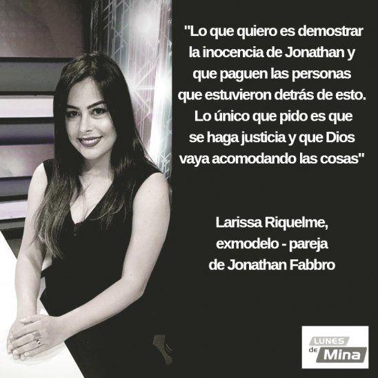 Larissa realizó sorprendentes declaraciones en el programa de Mina Feliciangeli.