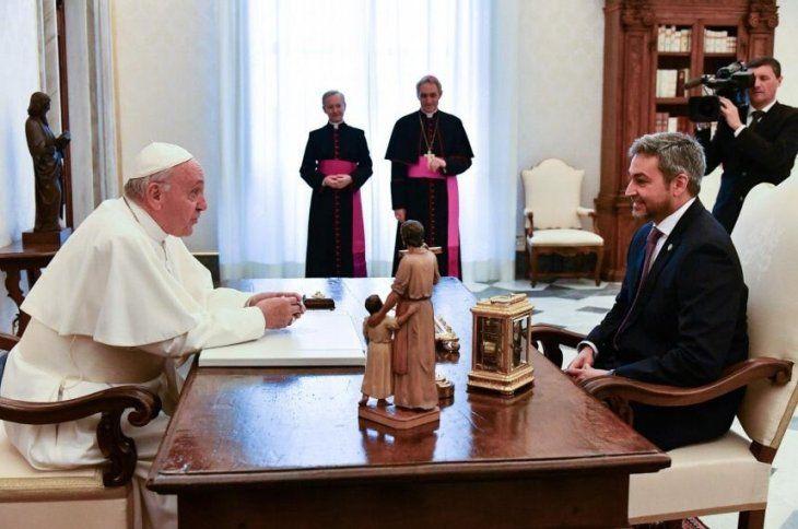 La reunión entre el Papa y Marito duró alrededor de 25 minutos.