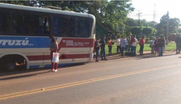 Los pasajeros tuvieron que esperar otro micro que los lleve a Asunción.
