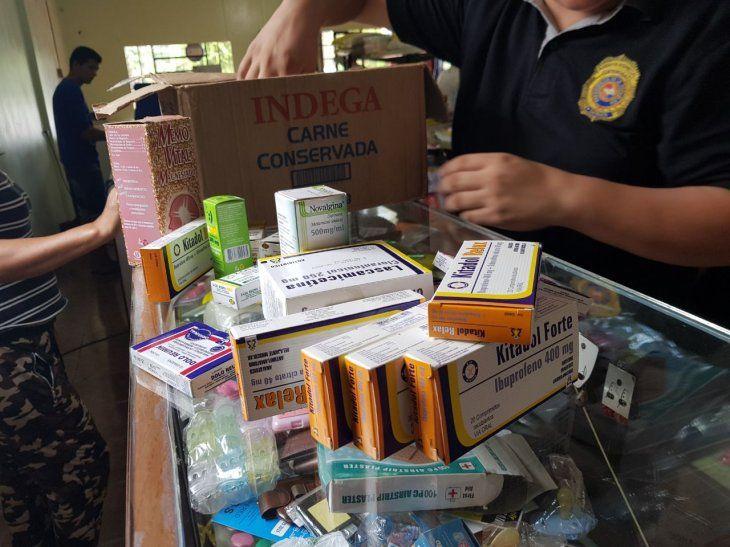 La comitiva de la Senad incautó lotes de medicamentos de carnicerías y despensas de Canindeyú.