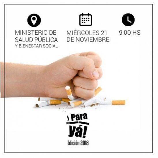 Lanzan campaña ¡Pará ya! contra el cigarrillo