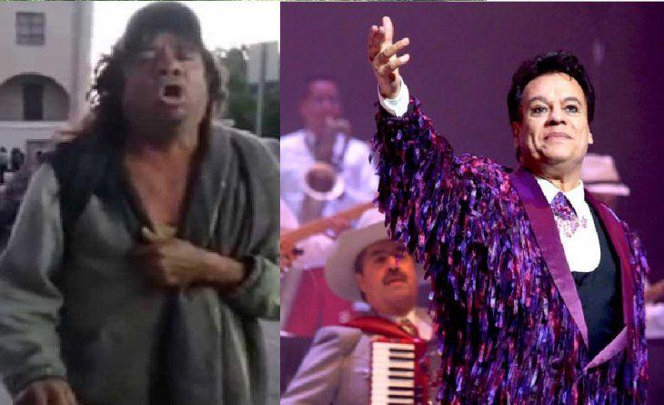 El mendigo es idéntico a Juan Gabriel.