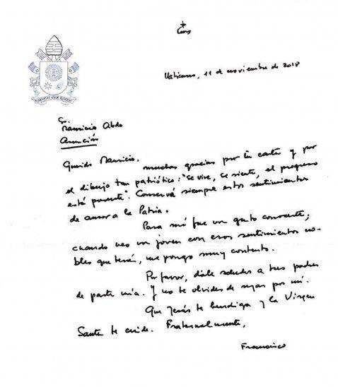 Reclamos y bromas sobre carta de Papa al hijo de Marito