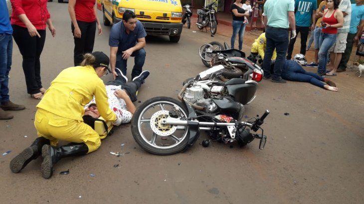 Dos de los tres accidentados no contaban con el casco protector.