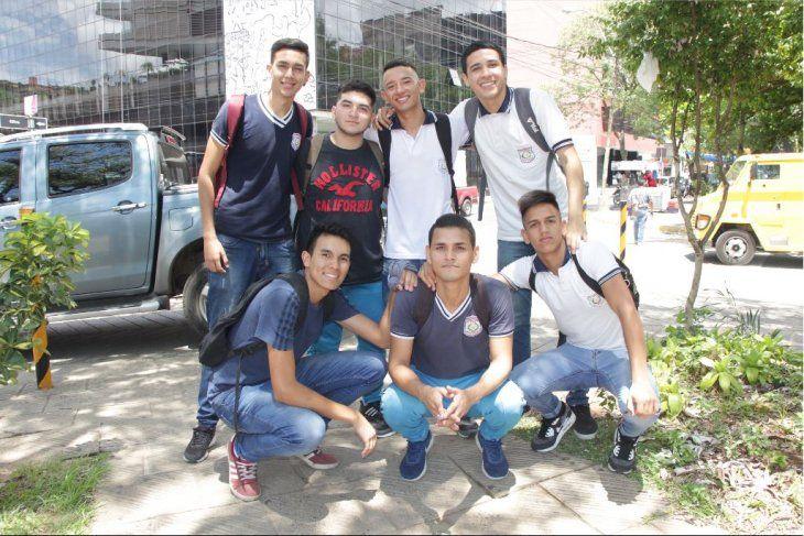 Estudiantes del Presidente Franco.