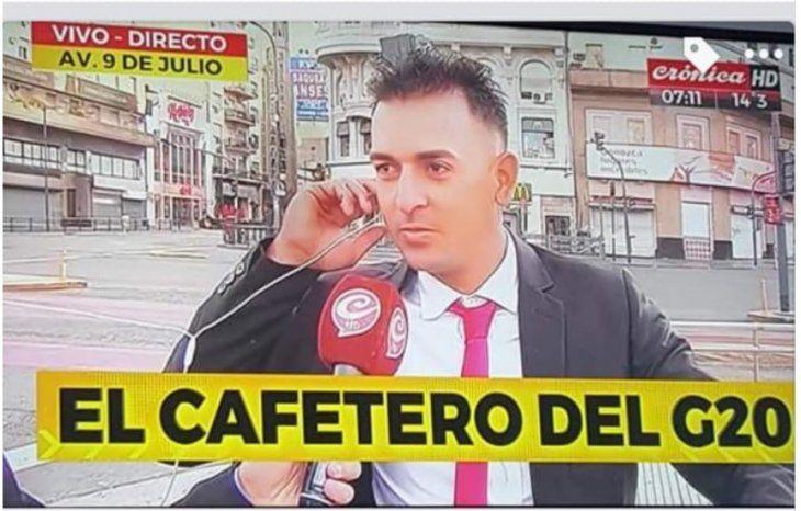 El cafetero del G20 quiere regresar. En la TV argentina le envié saludos a Marito