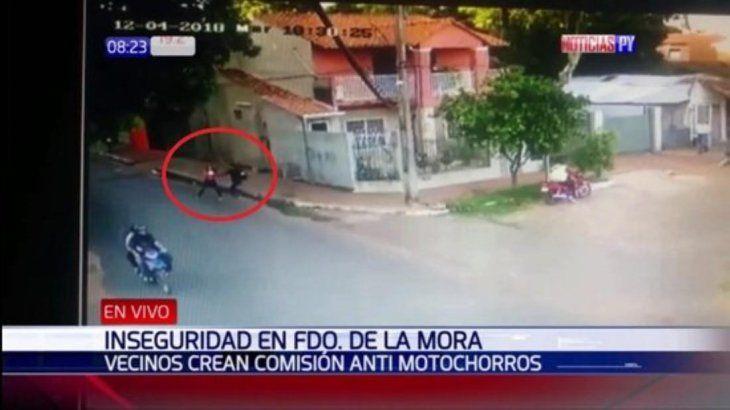 Violento asalto en Fernando de la Mora