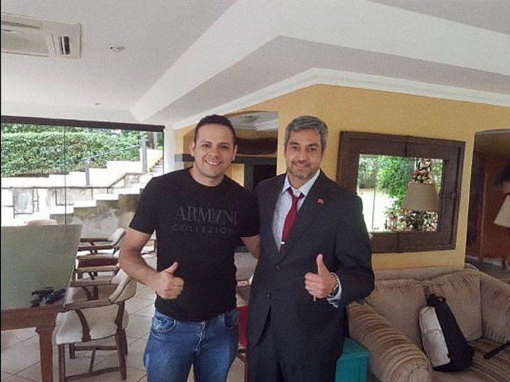 La foto de Cabaña con Marito se había viralizado tras la detención del presunto narcotraficante.