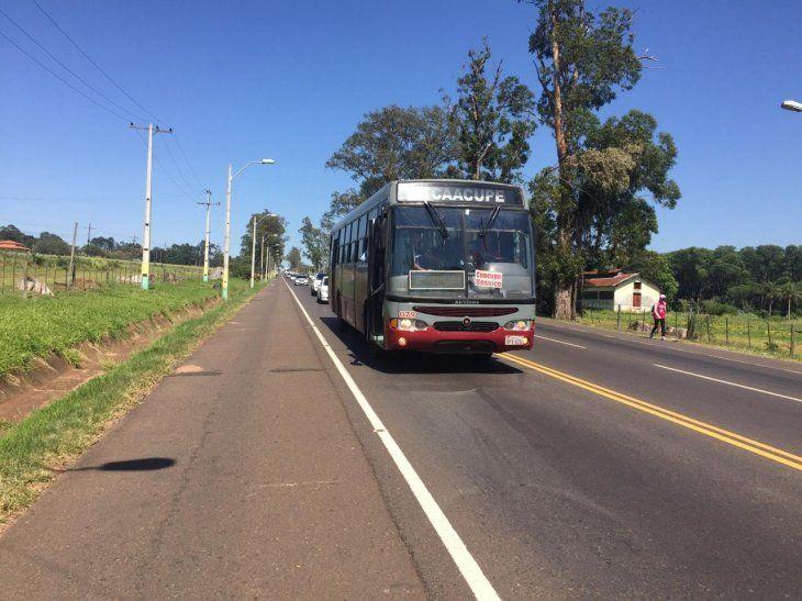 El precio del pasaje de Asunción a Caacupé es de G. 5.300.