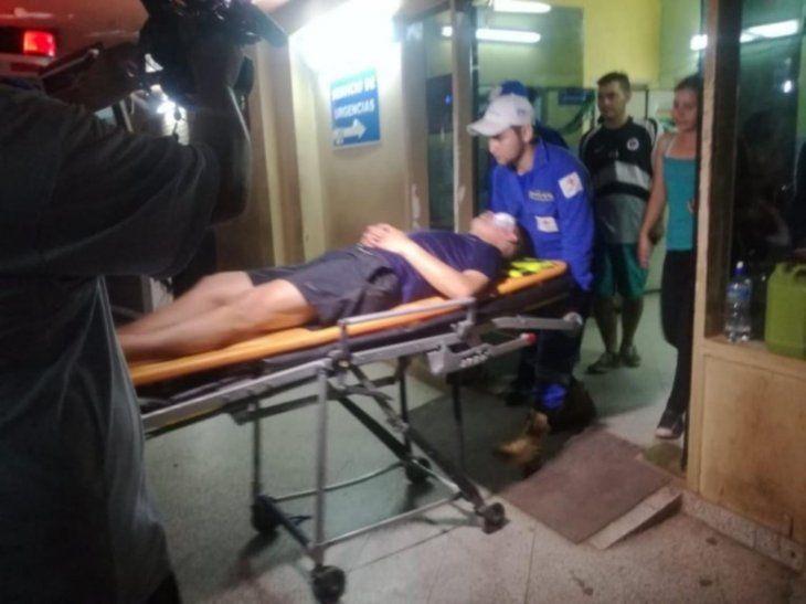Internado. El policía fue llevado al hospital Rigoberto Caballero