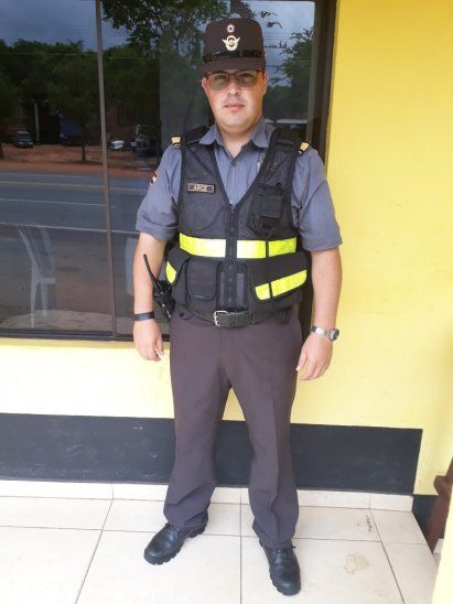 Inspector de la caminera Alexis Arce.