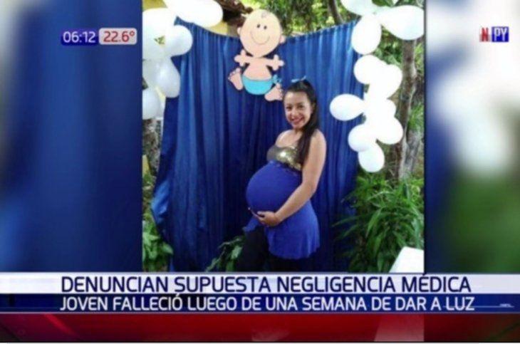 Jazmín Núñez dio a luz el pasado domingo 16 y falleció ayer