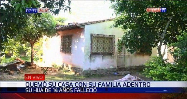 Ypacaraí: Hombre incendió su casa y murió su hija de 14 años