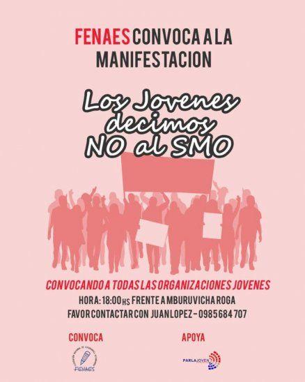 Anuncian manifestación contra el Servicio Militar Obligatorio
