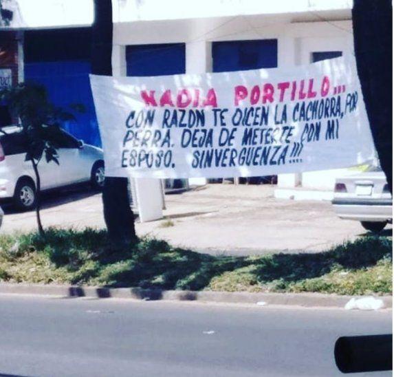Le dedicaron un pasacalle a Nadia Portillo.