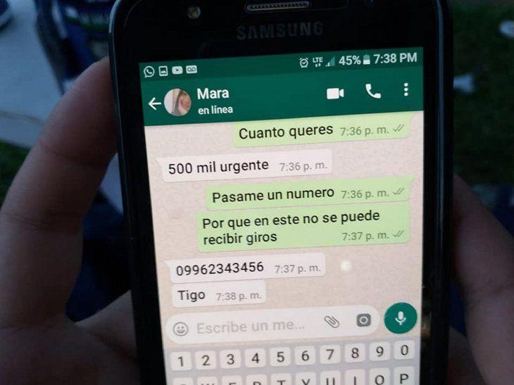 Robó un celular y pidió giros de dinero a los contactos de WhatsApp