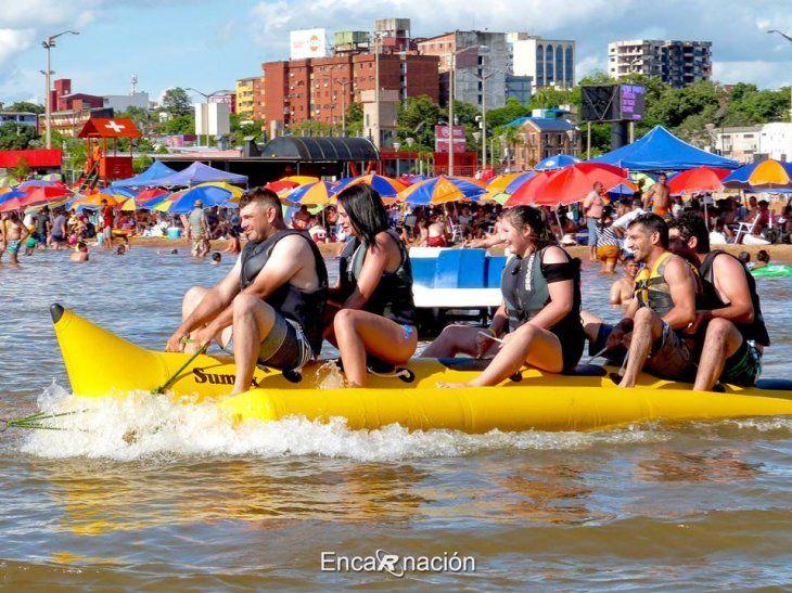 En diciembre unas 100 mil personas visitaron las playas de Encarnación. En enero aumentan los turistas.