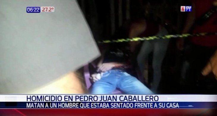 Sicarios matan de 12 disparos a un hombre en Pedro Juan
