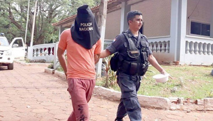 El joven detenido quedó recluido en la Dirección de Policía del Alto Paraná (Foto: CDE Hot).